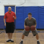 Alternating Circle 2 Basketball Dribbling Drill
