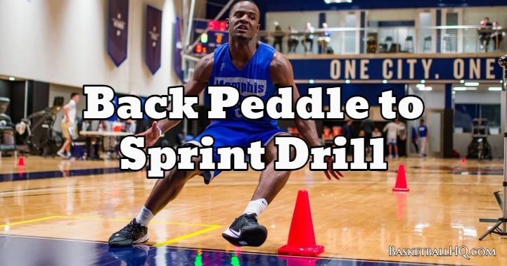 Back Peddle to Sprint Drill