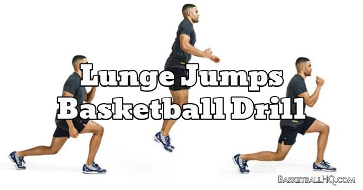 Lunge Jumps Basketball Drill