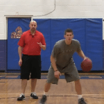 Rhythm Dribble Alternating Between the Legs Dribbling Drill