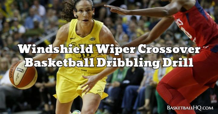Windshield Wiper Crossover Basketball Dribbling Drill