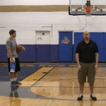 Chest Pass Basketball Drill