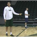 Lane Line Tennis Ball Toss Drill