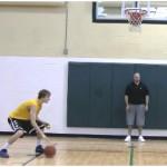 Partner Tennis Ball Toss Bounce Between the Legs Drill