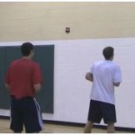 Wall Tennis Ball Behind the Back Dribbling Drill