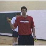 Wall Tennis Ball Crossover Dribbling Drill