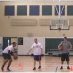 Cone Touches Competition Basketball Dribbling Drill