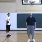 Partner Tennis Ball Toss Bounce Reverse Between the Legs Drill