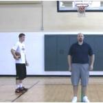 Partner Tennis Ball Toss Reverse Between the Legs Drill