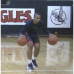 2 Ball Bounce Double Behind the Back Dribbling Drill