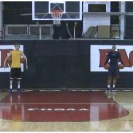 2 Ball Bounce Double Between the Legs Dribbling Drill