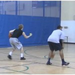 Toss Double Behind the Back Tennis Ball Drill