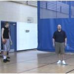 Toss Double Reverse Between the Legs Tennis Ball Drill