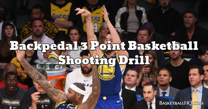Backpedal 3 Point Basketball Shooting Drill