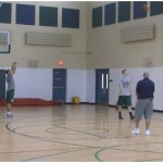 Backpedal 3 Point Shooting Drill