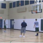 Backpedal Jab Step and Go Opposite Shooting Drill