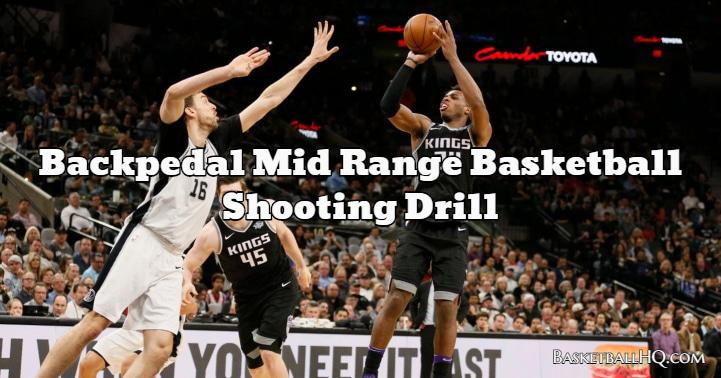 Backpedal Mid Range Basketball Shooting Drill