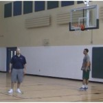 Backpedal Mid Range Shooting Drill