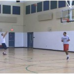 Mid Range Bad Pass Partner Shooting Drill
