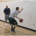 Wall Tennis Ball Toss Behind the Back Dribbling Drill