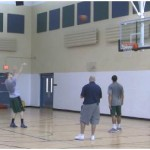 Backpedal Sweep 1 Dribble Pull Up Shooting Drill