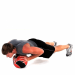 Reistance Band Medicine Ball Push Ups Exercise