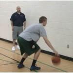 Wall Tennis Ball Toss Reverse Between the Legs