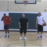 Tennis Ball Toss Between the Legs Competition Drill