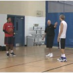 Walking Partner Tennis Ball Toss Crossover Drill