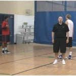 Walking Partner Tennis Ball Toss In and Out Drill