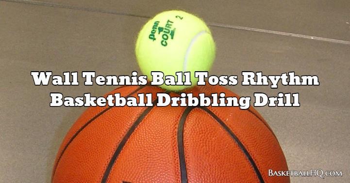 Wall Tennis Ball Toss Rhythm Basketball Dribbling Drill