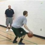 Wall Tennis Ball Toss in and Out Reverse Between the Legs