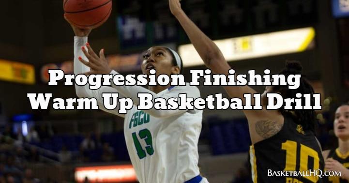 Progression Finishing Warm Up Basketball Drill