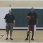 In and Out Double Behind the Back Stationary Dribbling Drill