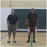 In and Out Double Between the Legs Stationary Dribbling Drill
