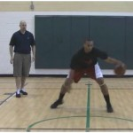 In and Out Double Reverse Between the Legs Stationary Dribbling Drill