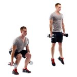 Dumbbell Squat Jump Exercise