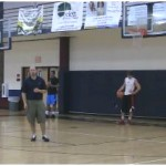 1 Dribble Between the Legs Change Direction Drill