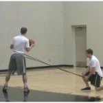 Band Resisted Drop Step Drill