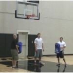 Box Out Rim Touch Rebounding Drill