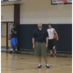 1 Dribble Reverse Between the Legs Change Direction Drill