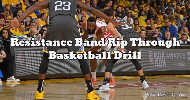 Resistance Band Rip Through Basketball Drill