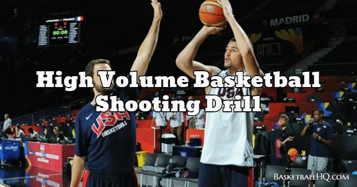 High Volume Basketball Shooting Drill