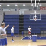 3 Man 2 Ball Mid Range Shooting Drill