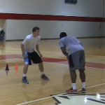 Defender Goes Under Game Situation Scoring Drill