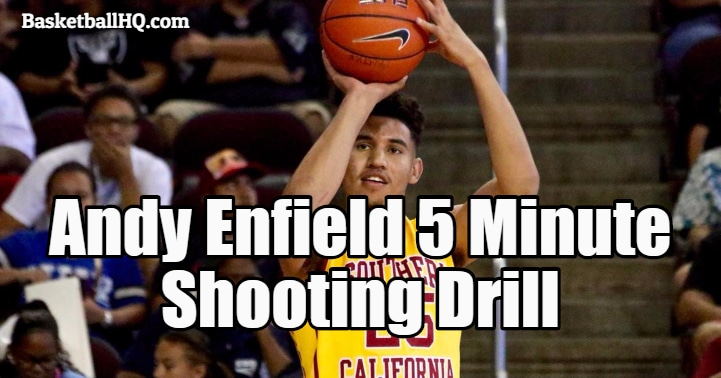 Andy Enfield 5 Minute Basketball Shooting Drill