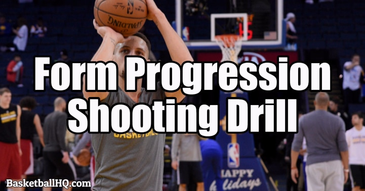 Form Progression Basketball Shooting Drill