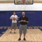 Moving Slow to Fast Crossover Between the Legs Basketball Dribbling Drill
