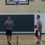 Two Ball Same Side Mikan Basketball Drill
