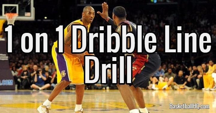 1 on 1 Dribble Line Basketball Drill